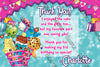 Shopkins Cartoon Birthday Thank You Card