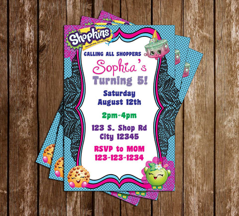 Shopkins - Lace - Birthday Party Invitation