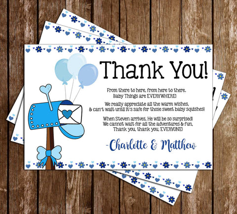 Shower by Mail - Quarantine - Boy - Baby Shower - Party - Thank You