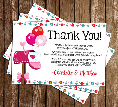 Shower by Mail - Covid - Girl - Baby Shower - Party - Thank You