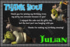 Shrek - Movies - Birthday Party - Thank You Card