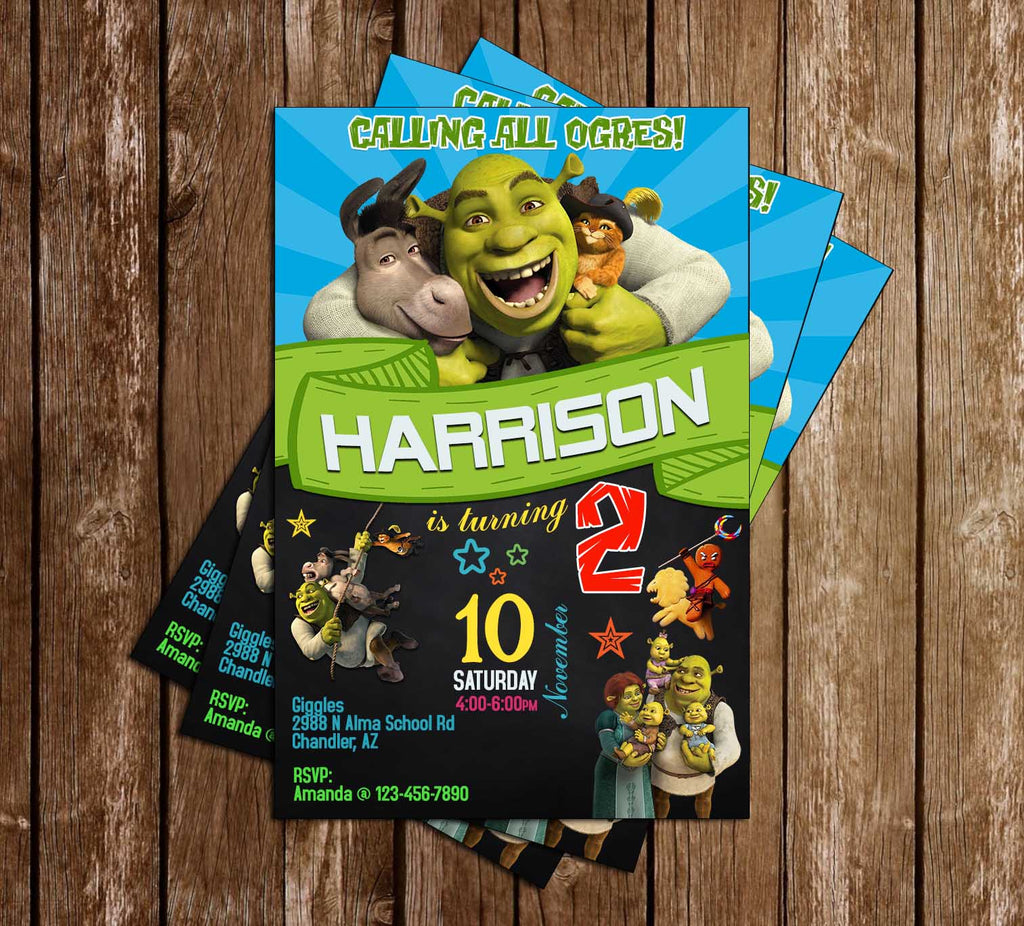 Shrek Movie - Birthday Party - Invitation