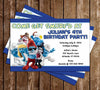 Smurfs Movie Birthday Party Invitation