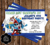 Smurfs Birthday Party Invitation