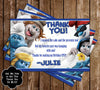 The Smurfs Movie Birthday Party Ticket Invitation