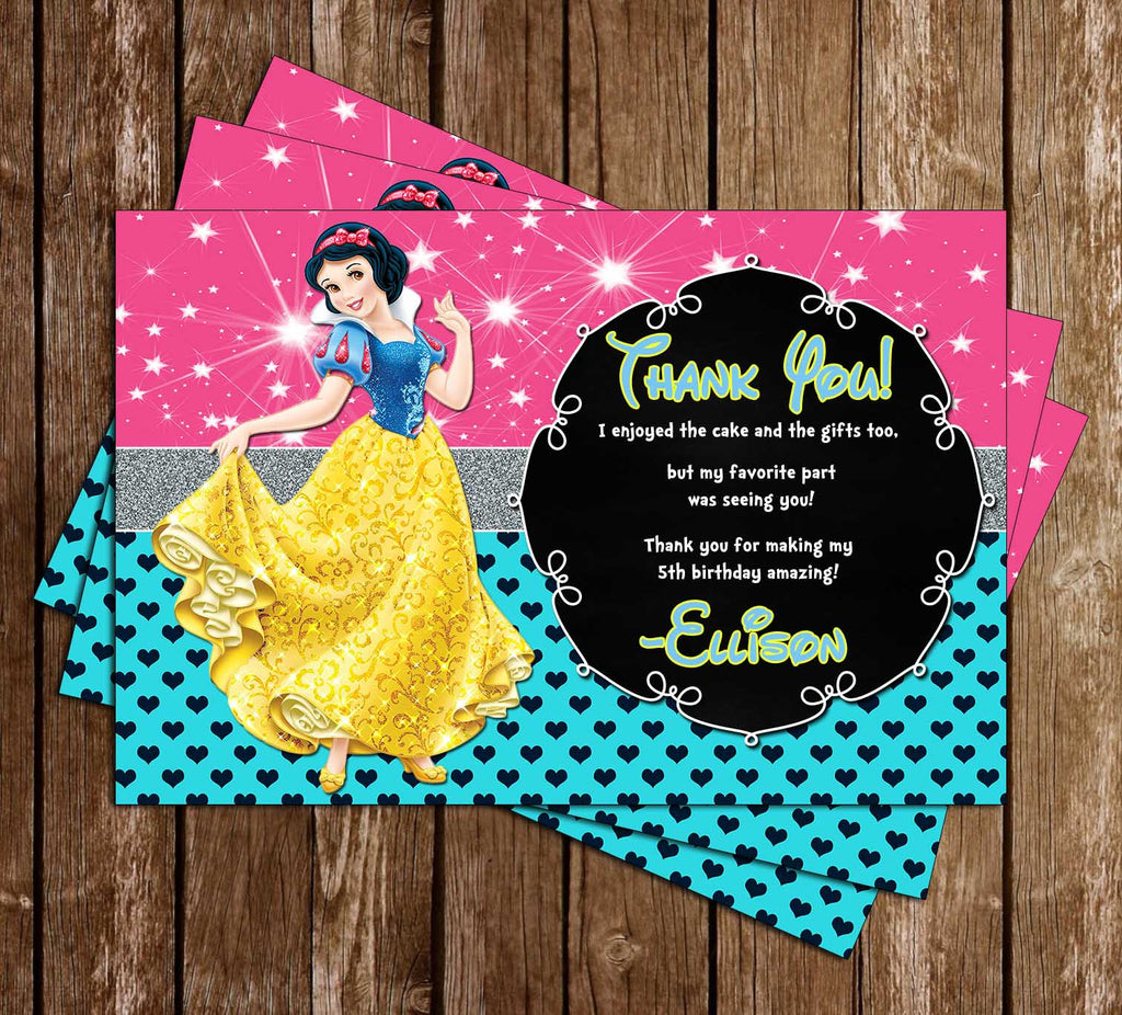 Disney Princess Snow White - Snow White and Seven Dwarfs - Birthday Thank You Cards