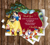 Snow White & The Seven Dwarves - Golden Frame - Birthday Invitation