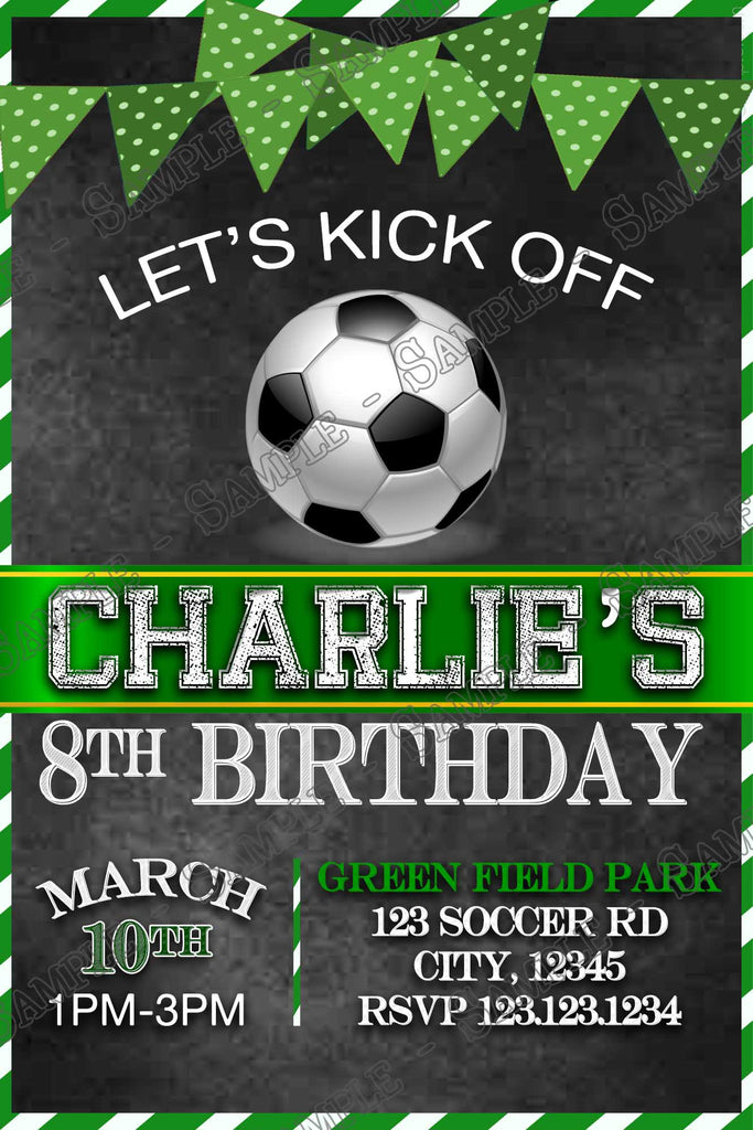Novel Concept Designs Soccer Sports Birthday Party Thank You