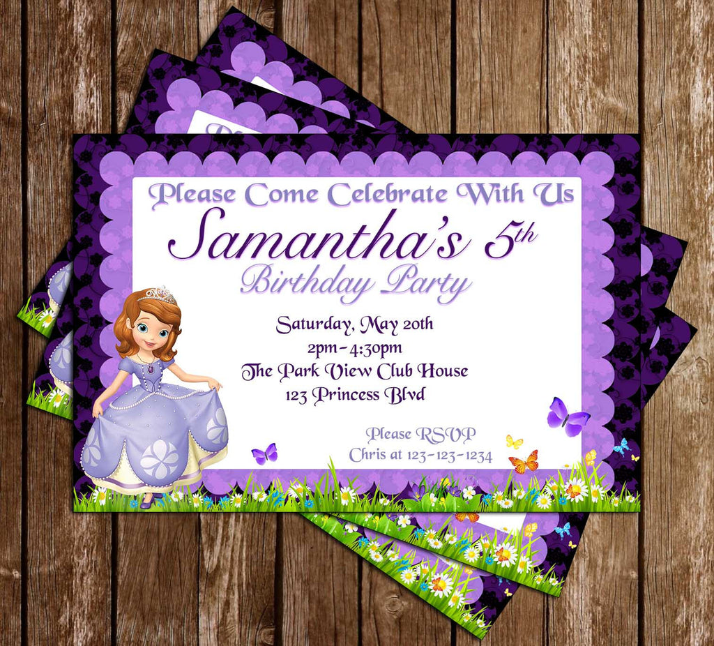 Novel Concept Designs - Princess Sofia The First - Purple - Birthday ...