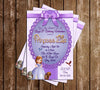Princess Sofia The First - Royal Purple - Birthday Invitation