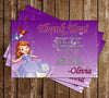 Sofia The First Thank You Card (Purple)