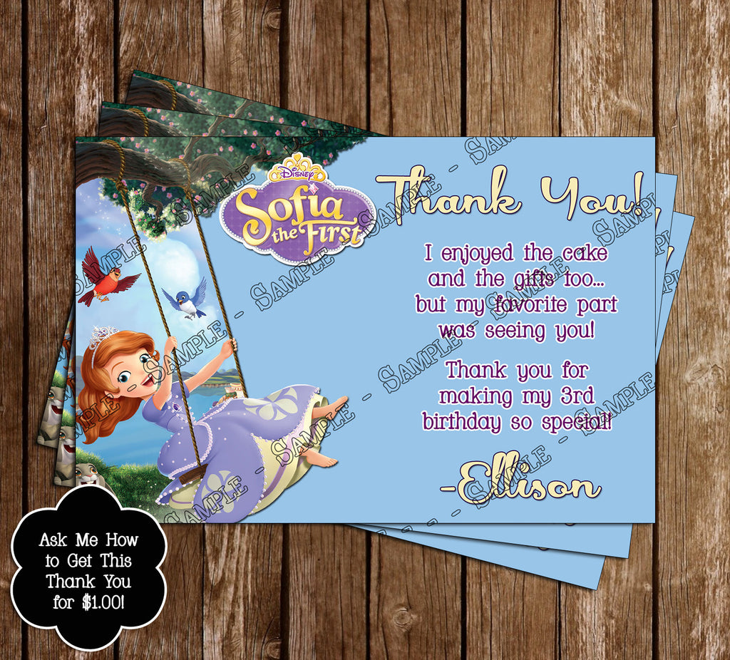 Novel Concept Designs Sofia The First Birthday Ticket Invitation – Ticket Invitation Maker