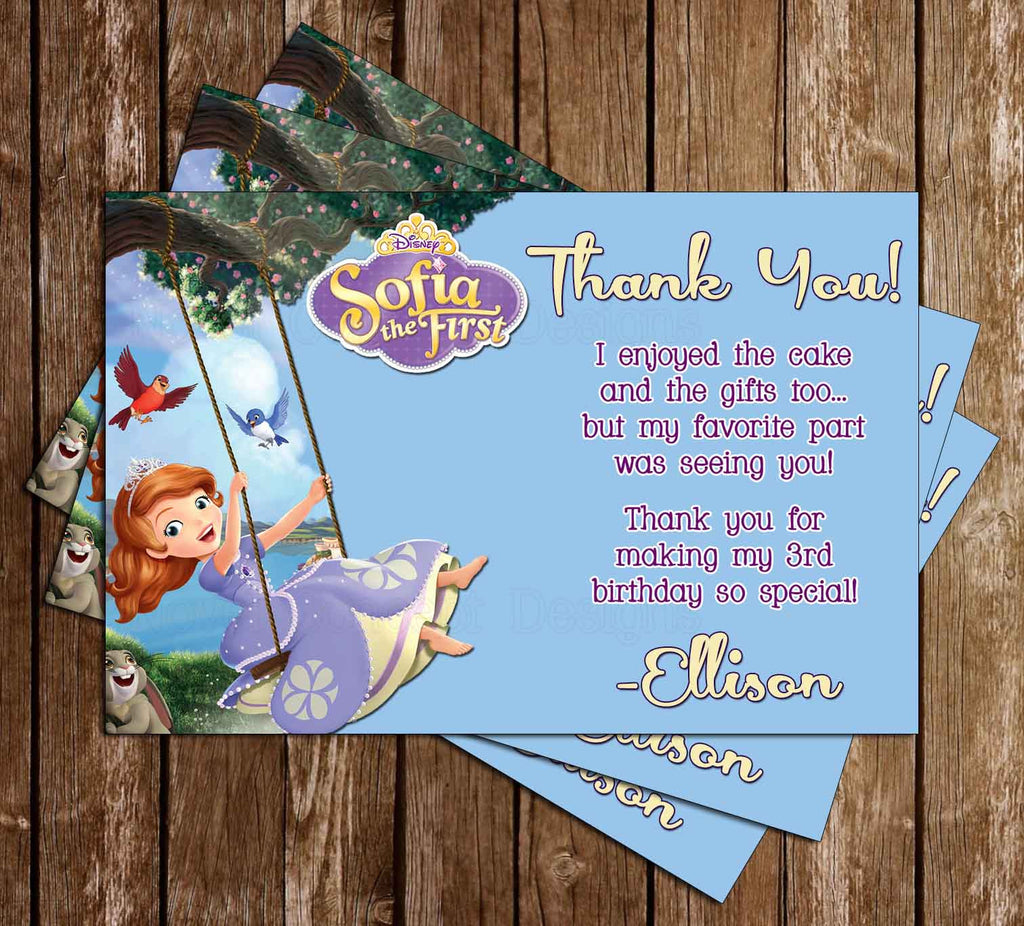Sofia The First Thank You Card (Swing)