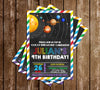 Solar System - Space - Birthday Party - Invitation