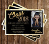 Gold Sparkle - Graduation Invitation / Announcement