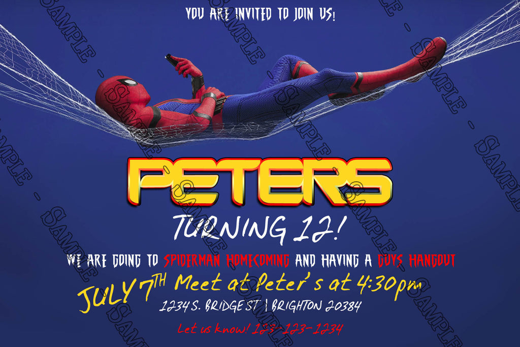 Novel Concept Designs - Spiderman - Homecoming - Birthday Party ...