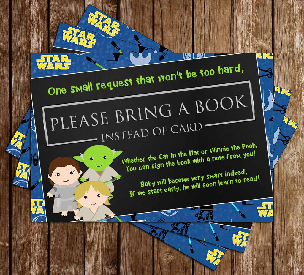 A New Jedi - Star Wars - Baby Shower - Bring A Book Insert