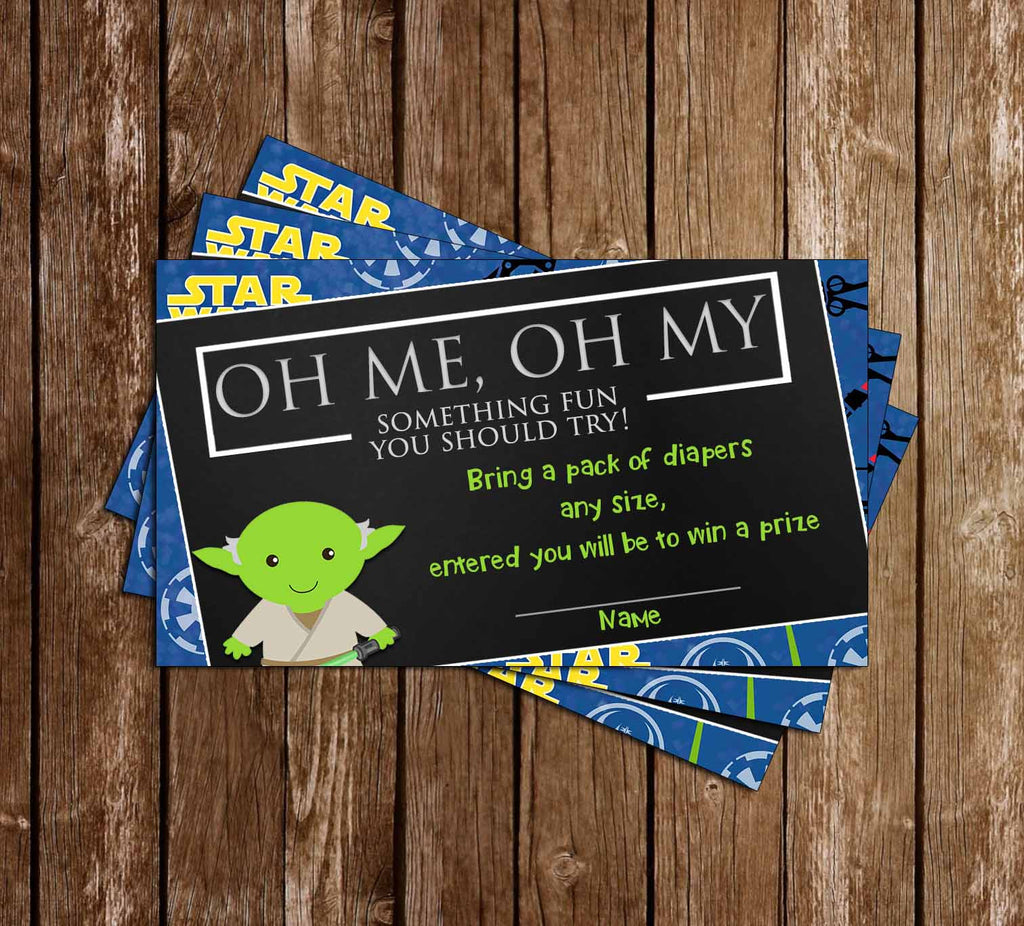 A New Jedi - Star Wars - Baby Shower - Diaper Raffle Tickets
