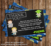 Star Wars - A New Jedi - Baby Shower - Thank You Card