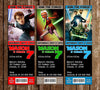 Star Wars The Clone Wars Show Birthday Party Ticket Invitation Printable