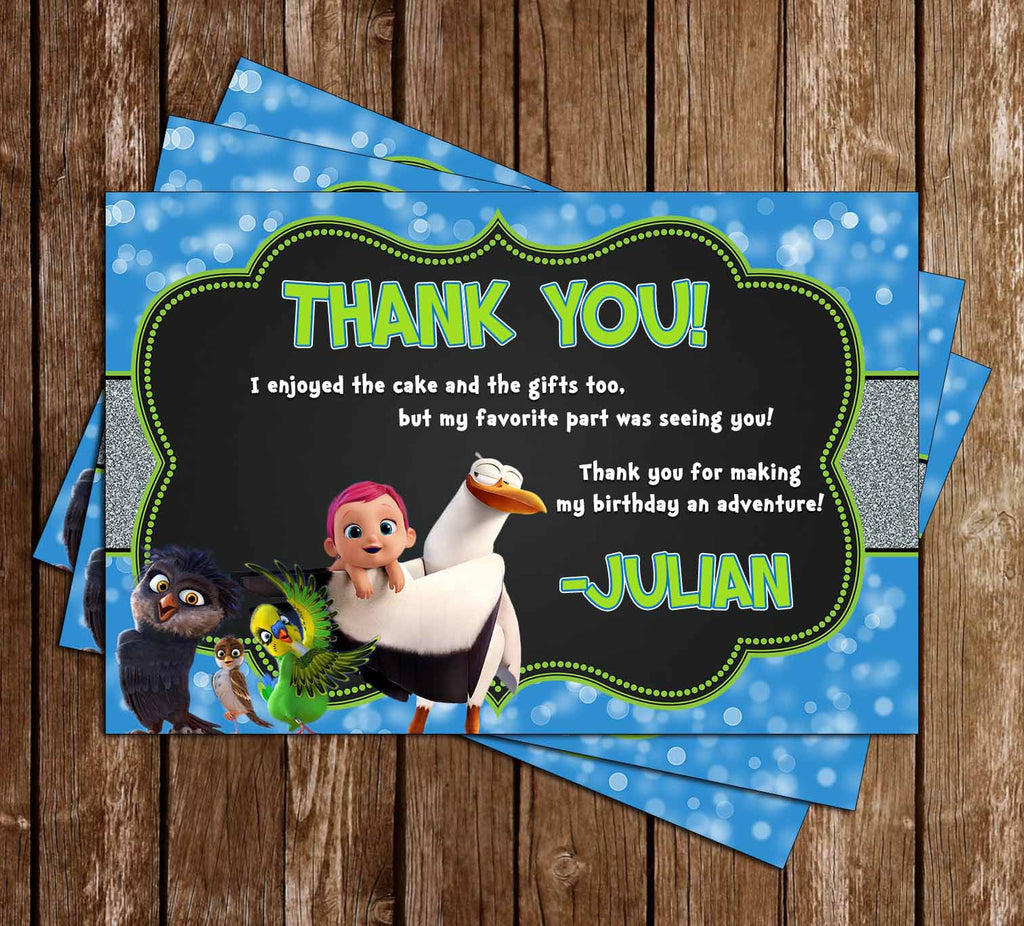The Storks - Movie - Birthday Party Thank You Cards