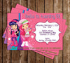 Strawberry Shortcake Show Birthday Thank You Card