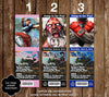 Street Fighter V Game Birthday Party Ticket Invitations