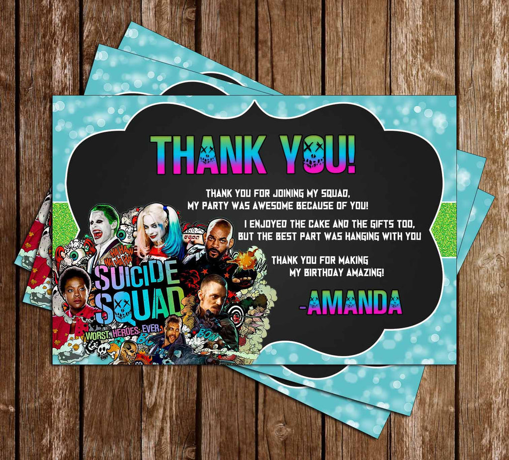 Suicide Squad - The Movie - Birthday Thank You Card