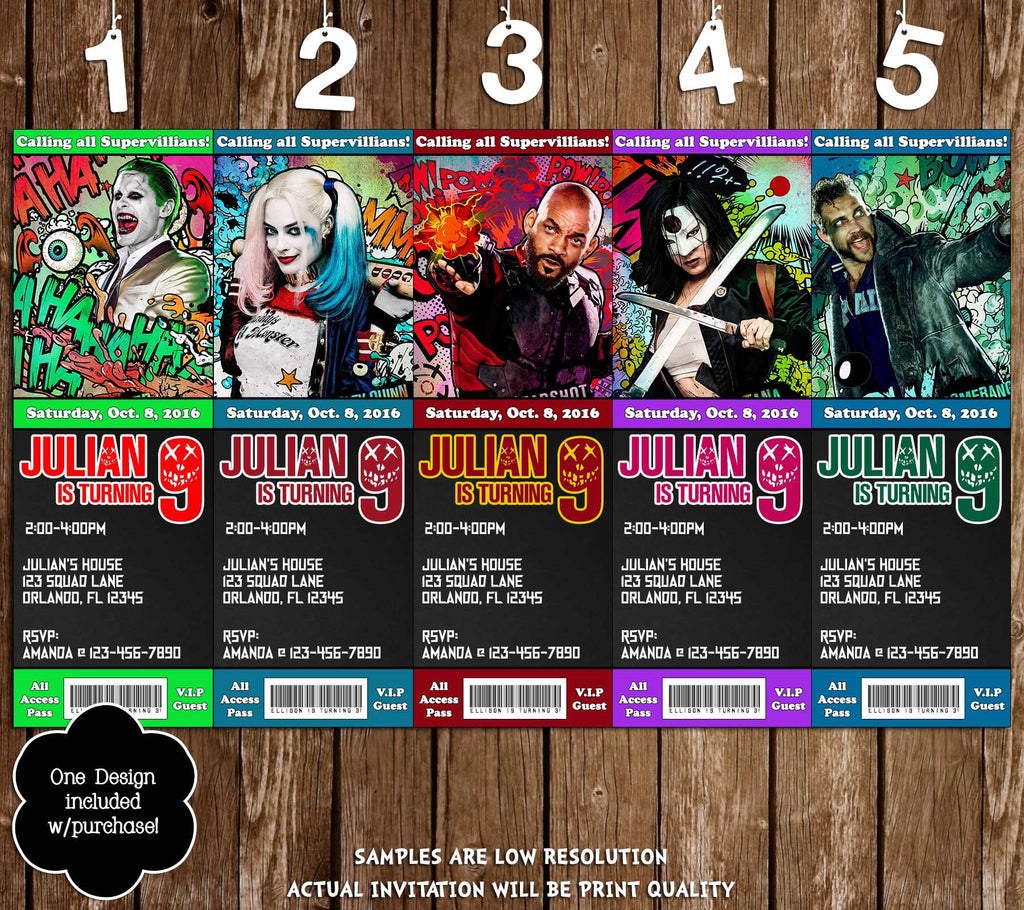 Novel Concept Designs Suicide Squad Movie Birthday