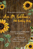Sunflower - Rustic - Birthday Party - Invitation