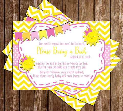 Sunshine - Baby Shower - Book Insert