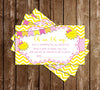 You are my Sunshine - Baby Shower - Diaper Raffle Ticket