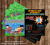 Calling all SuperHeroes Batman Spiderman Superman Captian America Birthday Party Invitation