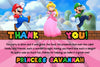 Super Mario Bros - Girls Pink - Birthday - Invitation
