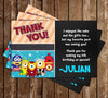 Despicable Me Avenger Super Hero Minions Birthday Party Thank You Card