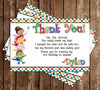 Super Why Birthday Party Thank You Card