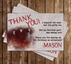 CW Supernatural Birthday Thank You Card