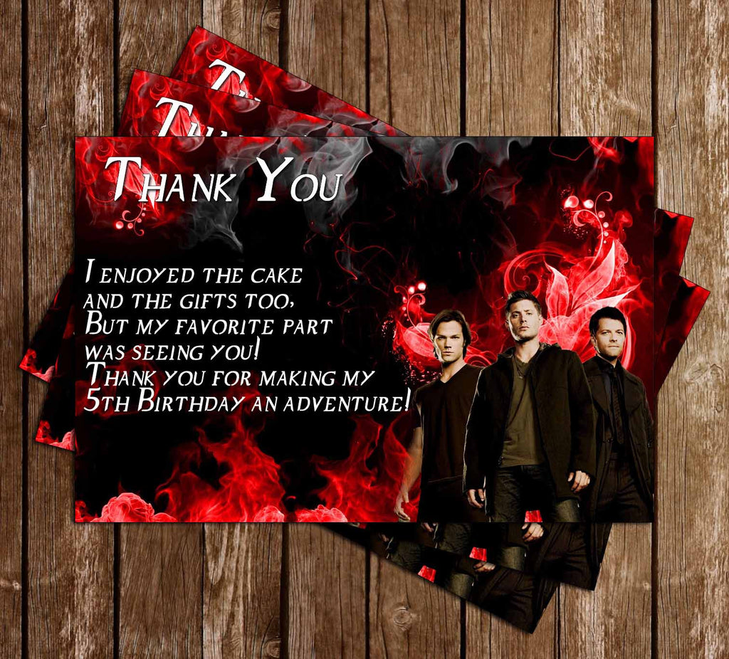 Supernatural Show Birthday Thank You Card