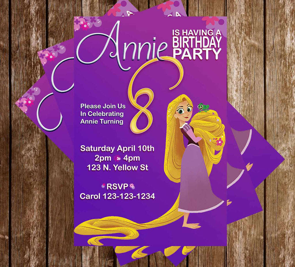 Novel concept designs disney tangled the series birthday party disney tangled the series birthday party invitation filmwisefo