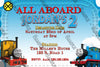 All Aboard - Thomas The Train - Birthday Invitation