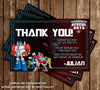 Rescus Bots - Transformers - Birthday Party - Invitations