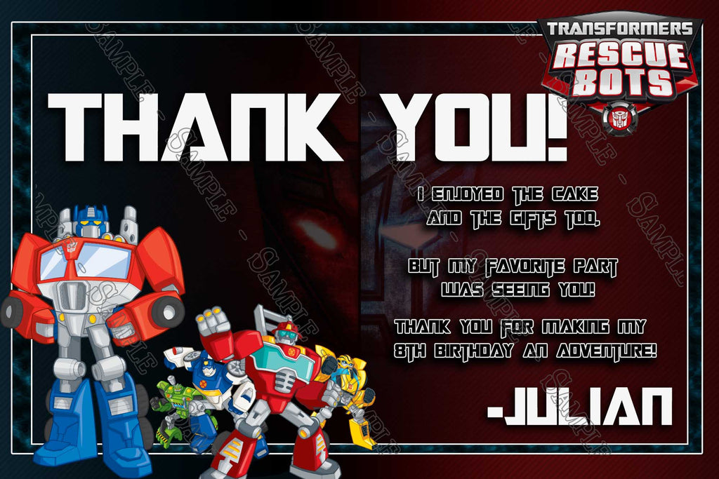 Novel concept designs transformers rescue bots birthday party transformers rescue bots birthday party invitations filmwisefo