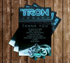 Disney - Kids Tron - Birthday Party - Invitation