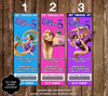Tangled Rapunzel Ticket Birthday Party Invitations