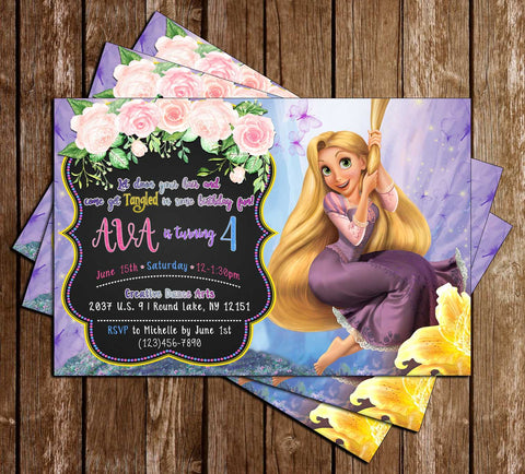 Disney - Tangled - Movie - Birthday Party - Invitation