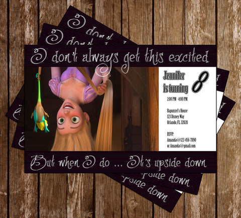 Disney Tangled Movie Birthday Party Invitation Memevitation