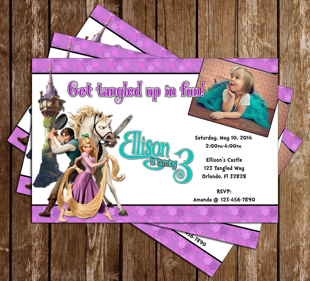 Disney Tangled Movie Birthday Party Invitation