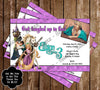 Tangled Ticket Birthday Party Invitations