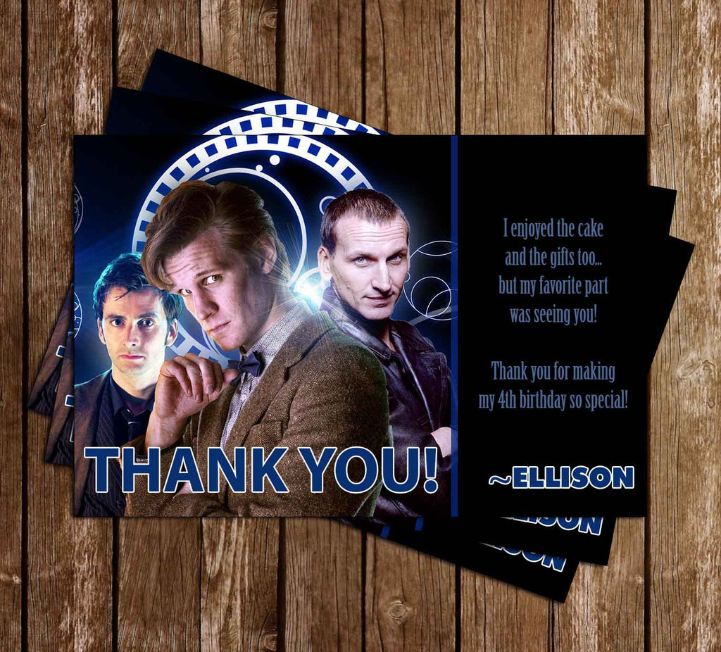Doctor Who Birthday Thank You Card PR