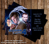 Doctor Who Birthday Invitation PR